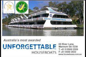 Unforgettable Houseboats logo