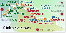 Murray River Event Search Map