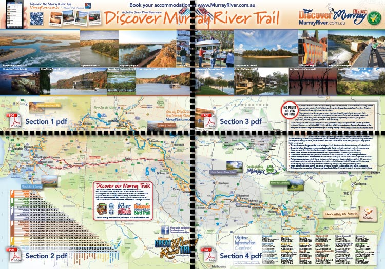 Discover Murray Trail - Map front