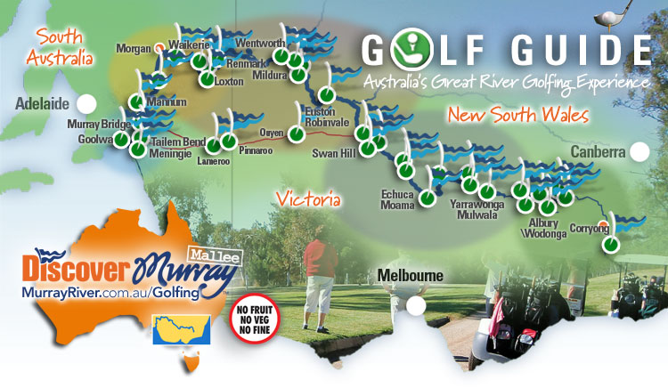 Murray River Golf Map