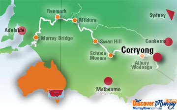 Map of Corryong