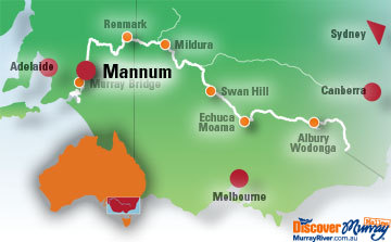 Map of Mannum
