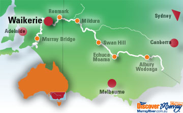 Map of Waikerie