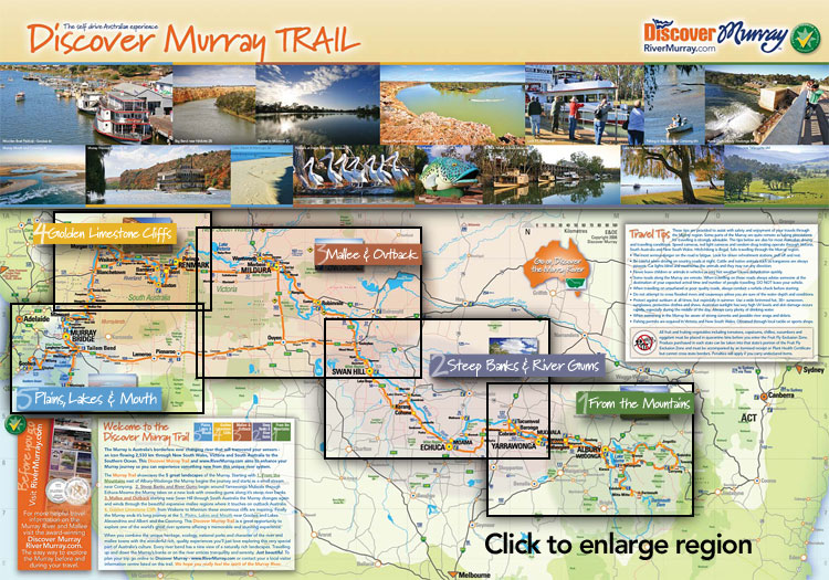 Discover Murray Trail - the Murray River through New South Wales, Victoria and South Australia