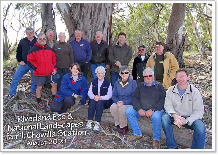 Riverland Ecotourism Assoc and Murray Tri-State National Landscapes Famil, Chowilla Station, August 2009