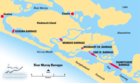 Barrages map