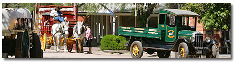 Port of Echuca car and cart
